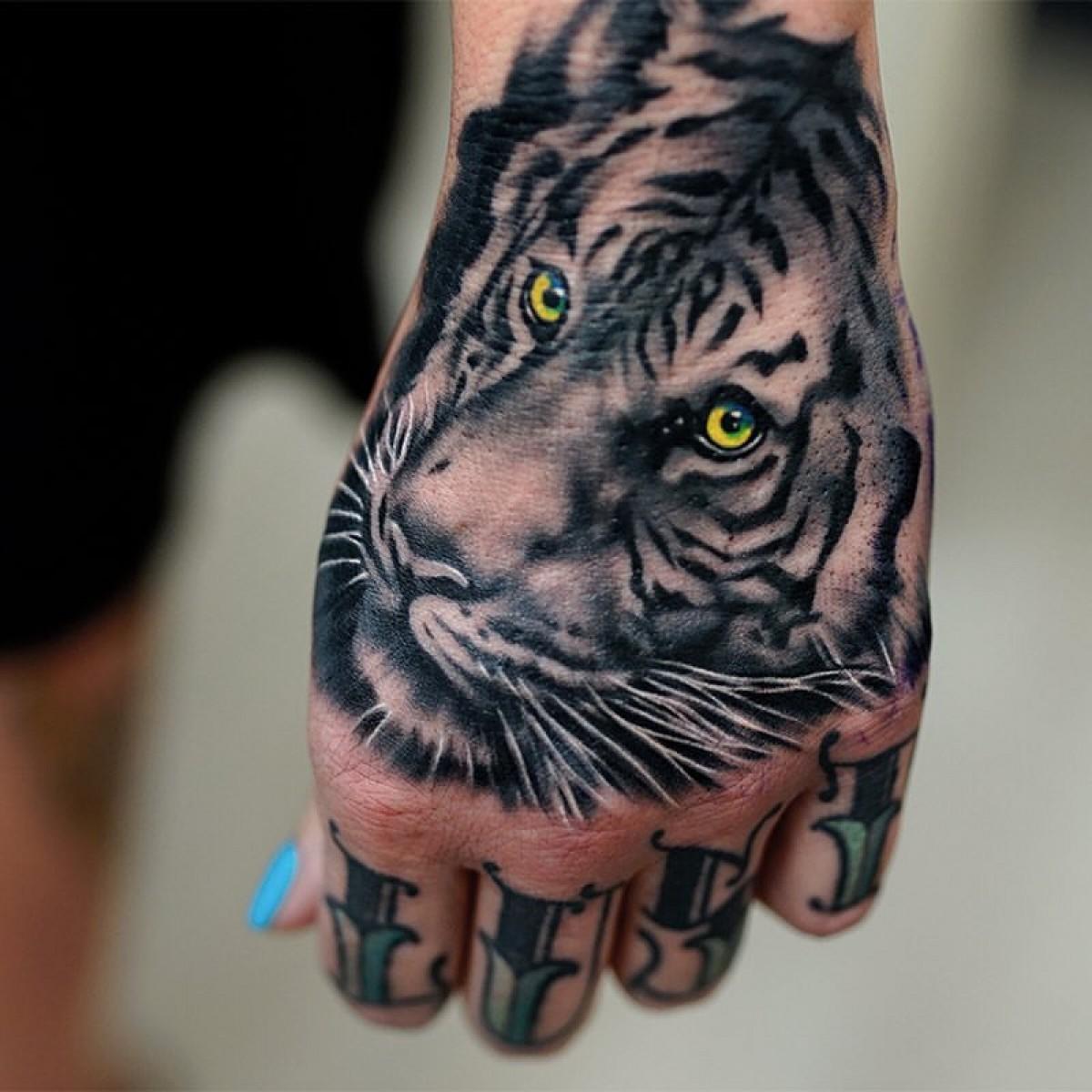 white tiger tattoos - 736×637